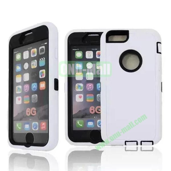 Robot Series 3-in-1 Hybrid Protective Rugged Case for iPhone 6 4.7 (White)