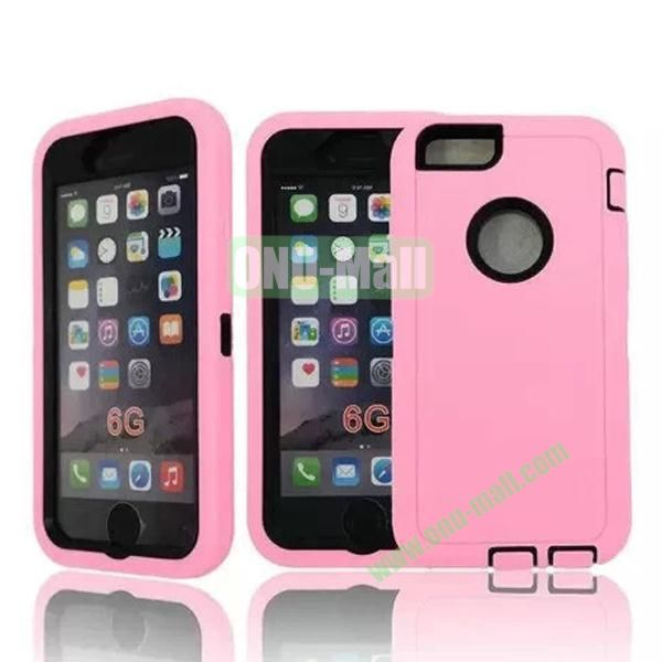 Robot Series 3-in-1 Hybrid Protective Rugged Case for iPhone 6 4.7 (Pink)