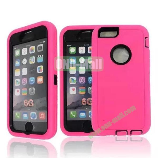 Robot Series 3-in-1 Hybrid Protective Rugged Case for iPhone 6 4.7 (Rose)