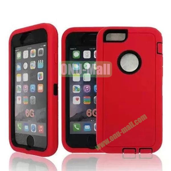 Robot Series 3-in-1 Hybrid Protective Rugged Case for iPhone 6 4.7 (Red)