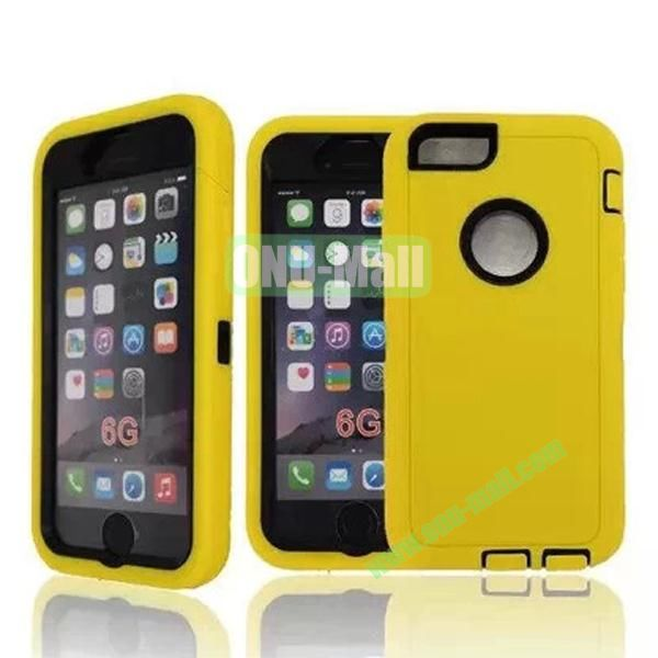 Robot Series 3-in-1 Hybrid Protective Rugged Case for iPhone 6 4.7 (Yellow)