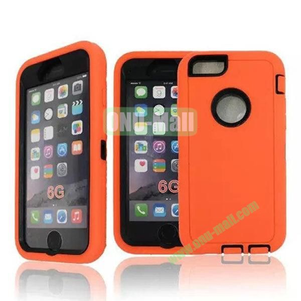 Robot Series 3-in-1 Hybrid Protective Rugged Case for iPhone 6 4.7 (Orange)