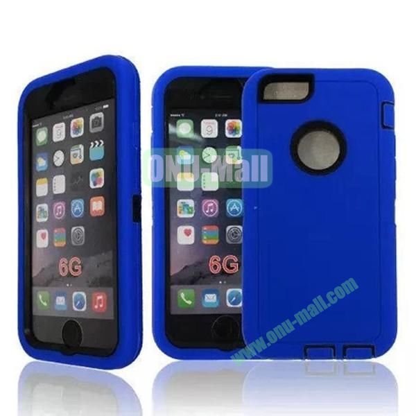 Robot Series 3-in-1 Hybrid Protective Rugged Case for iPhone 6 4.7 (Blue)