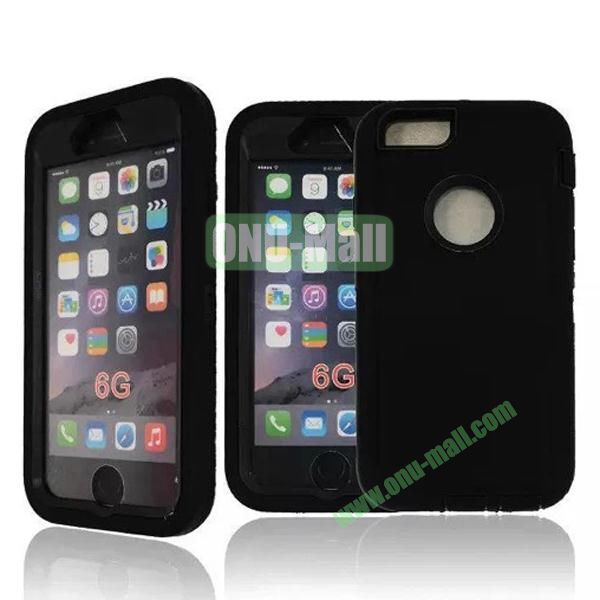 Robot Series 3-in-1 Hybrid Protective Rugged Case for iPhone 6 4.7 (Black)