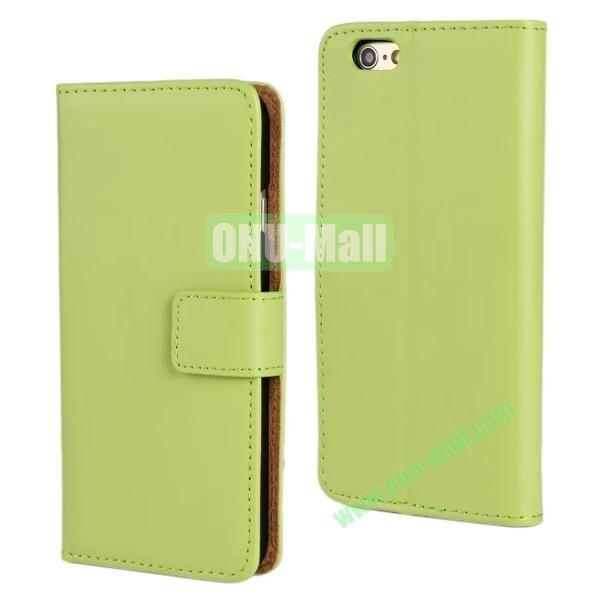Plain Texture Flip Stand Leather Case for iPhone 6 Plus 5.5 inch (Green)