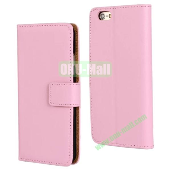 Plain Texture Flip Stand Leather Case for iPhone 6 Plus 5.5 inch (Pink)