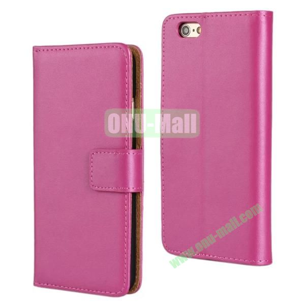 Plain Texture Flip Stand Leather Case for iPhone 6 Plus 5.5 inch (Rose)