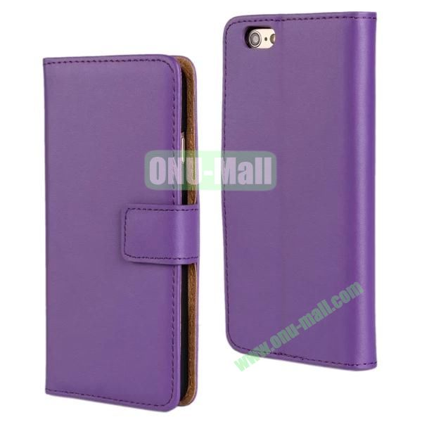 Plain Texture Flip Stand Leather Case for iPhone 6 Plus 5.5 inch (Purple)