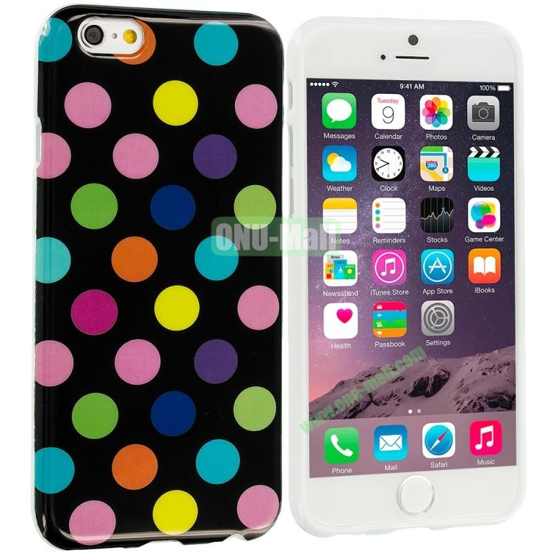 TPU Polka Dot Skin Case Cover for Apple iPhone 6 4.7 inch (Colorful Dots)