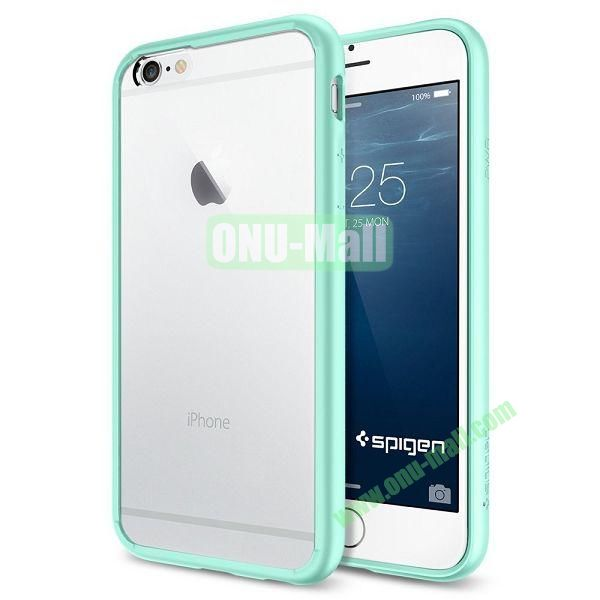 Ultra Hybrid Series Bumper Case with Clear Back Panel for iPhone 6 Plus 5.5 inch (Light Blue)