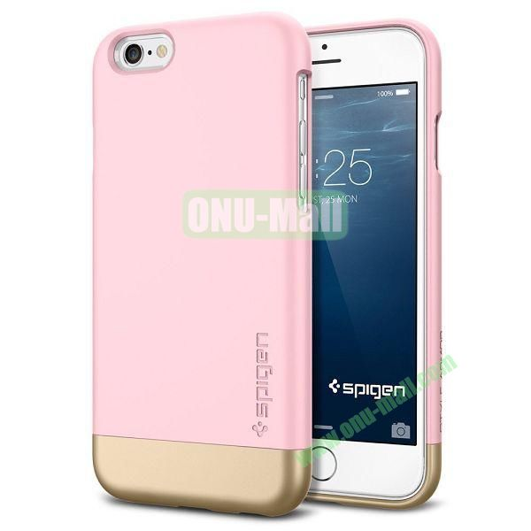 Armor Dual Layer Protection Slim Trendy Hard Case for iPhone 6 Plus 5.5 inch (Pink and Champagne Gold)