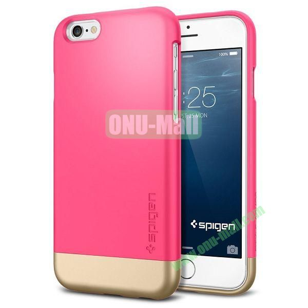 Armor Dual Layer Protection Slim Trendy Hard Case for iPhone 6 Plus 5.5 inch (Rose and Champagne Gold)