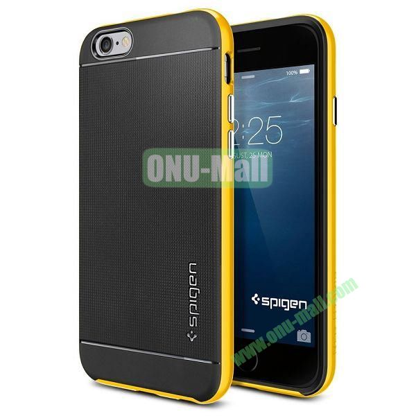 Neo Hybrid PC and TPU Case for iPhone 6 Plus 5.5 inch (Black and Yellow)