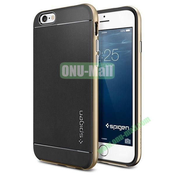 Neo Hybrid PC and TPU Case for iPhone 6 Plus 5.5 inch (Black and Gold)