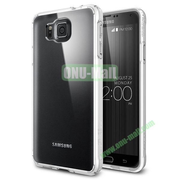 Scratch Resistant Bumper Case with Clear Back Panel Ultra Hybrid Series for Samsung Galaxy Alpha (White)
