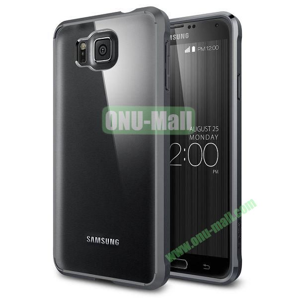 Scratch Resistant Bumper Case with Clear Back Panel Ultra Hybrid Series for Samsung Galaxy Alpha (Black)