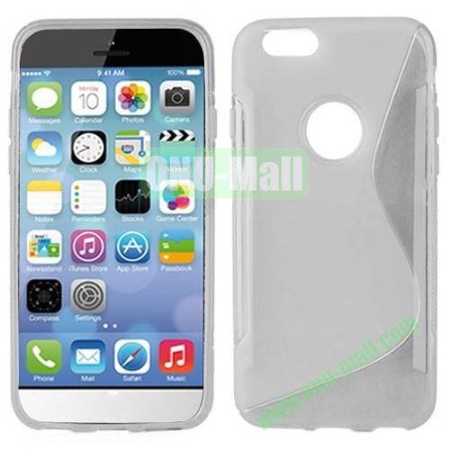 Hot Sale S-Shape TPU Case for iPhone 6 Plus 5.5 inch (White)