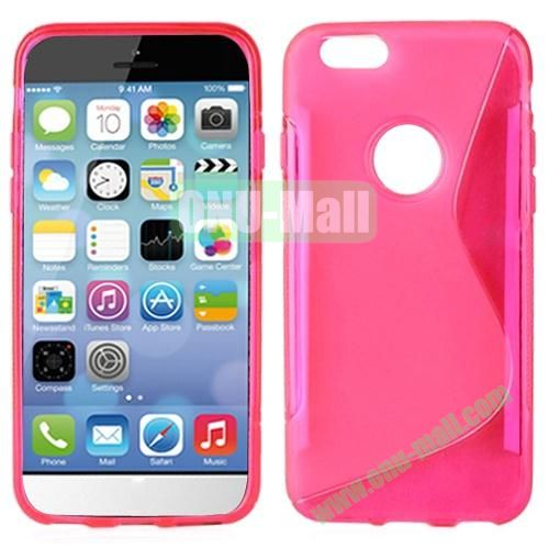 Hot Sale S-Shape TPU Case for iPhone 6 4.7 inch (Pink)