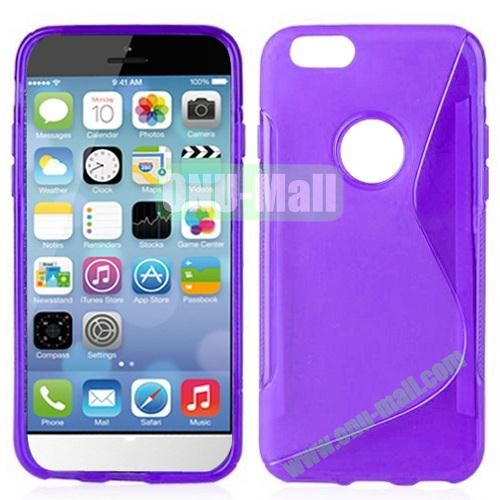 Hot Sale S-Shape TPU Case for iPhone 6 4.7 inch (Purple)