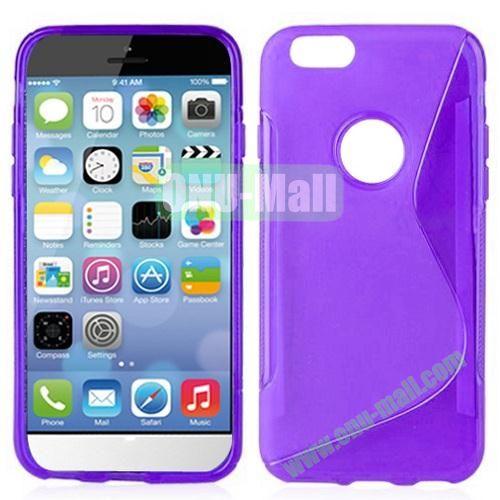 Hot Sale S-Shape TPU Case for iPhone 6 Plus 5.5 inch (Purple)