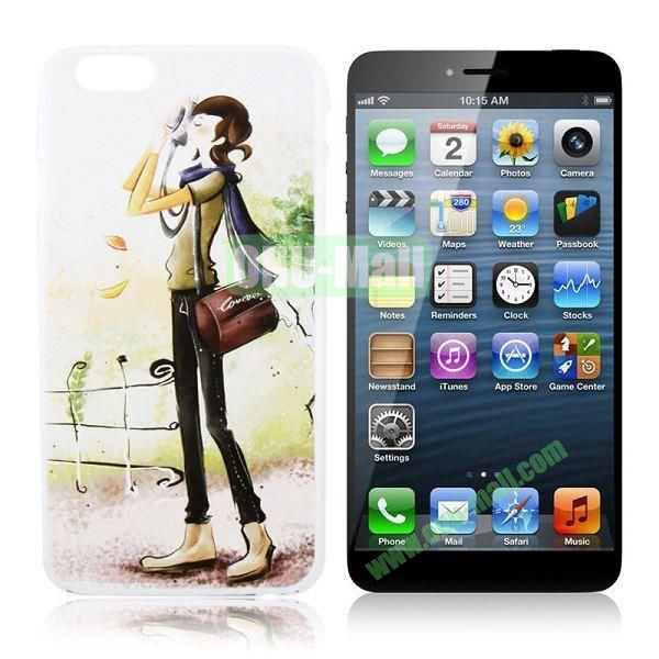 New Arrival Girl Pattern Hard Case for iPhone 6 Plus 5.5 inch