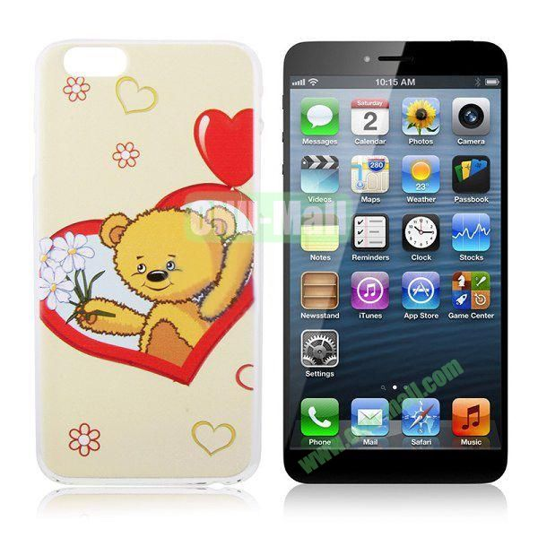 New Arrival Bear Pattern Hard Case for iPhone 6 Plus 5.5 inch