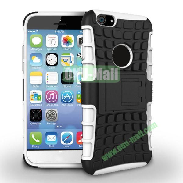 New Arrival Two-Color Detachable Hybrid TPU+ PC Hard Protective Case For iPhone 6 4.7 inch (White+Black)