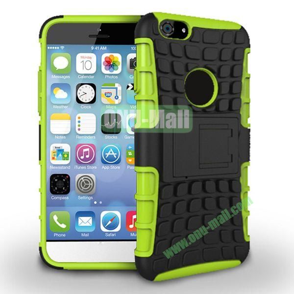 New Arrival Two-Color Detachable Hybrid TPU+ PC Hard Protective Case For iPhone 6 4.7 inch (Green+Black)