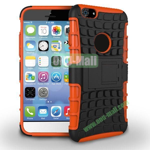 New Arrival Two-Color Detachable Hybrid TPU+ PC Hard Protective Case For iPhone 6 Plus 5.5 inch (Orange+Black)