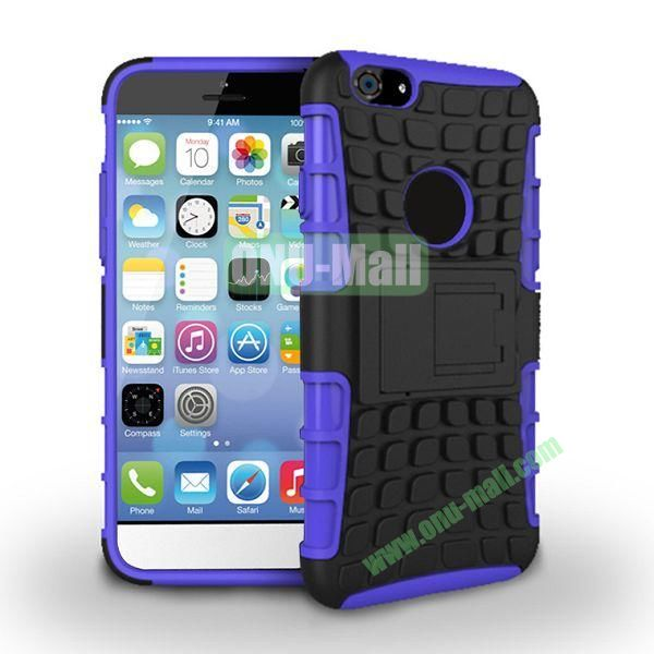New Arrival Two-Color Detachable Hybrid TPU+ PC Hard Protective Case For iPhone 6 4.7 inch (Purple+Black)