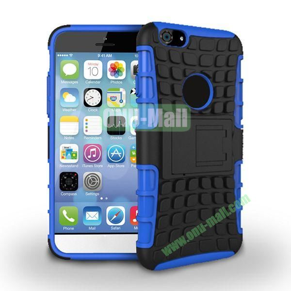 New Arrival Two-Color Detachable Hybrid TPU+ PC Hard Protective Case For iPhone 6 4.7 inch (Blue+Black)