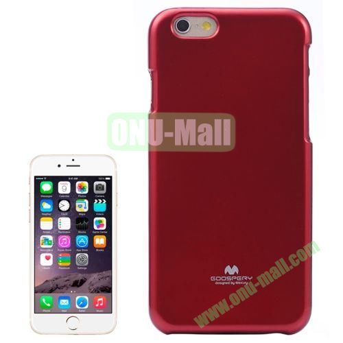 Smooth Surface Jelly Shimmering Powder Soft TPU Case for iPhone 6 (Red)