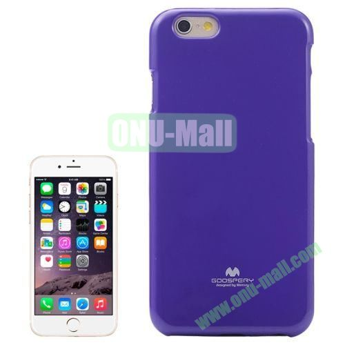 Smooth Surface Jelly Shimmering Powder Soft TPU Case for iPhone 6 (Purple)
