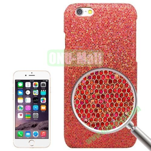 Shimmering Powder Electroplating Hard Case for iPhone 6 (Red)