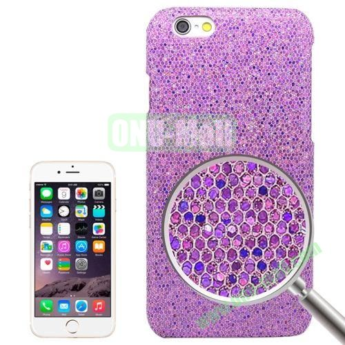 Shimmering Powder Electroplating Hard Case for iPhone 6 (Purple)