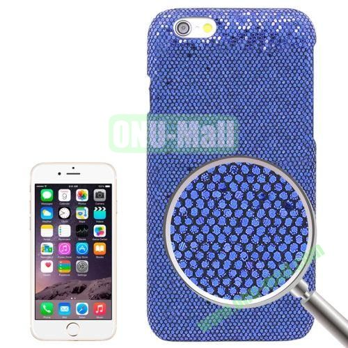 Shimmering Powder Electroplating Hard Case for iPhone 6 (Dark Blue)