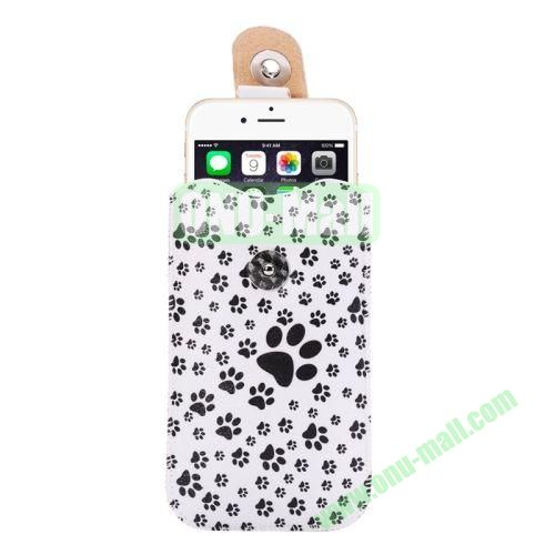 Colorful Design Magnet Buckle Leather Pouch for iPhone 6 Plus Samsung Galaxy Note 4 Note 3 N900A (Dog Footprint)