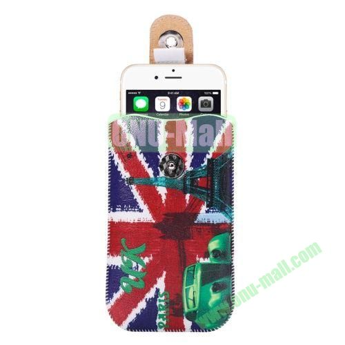 Colorful Design Magnet Buckle Leather Pouch for iPhone 6 Plus Samsung Galaxy Note 4 Note 3 N900A (UK Flag Pattern)