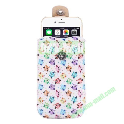 Colorful Design Magnet Buckle Leather Pouch for iPhone 6 Plus Samsung Galaxy Note 4 Note 3 N900A (Little Owls)