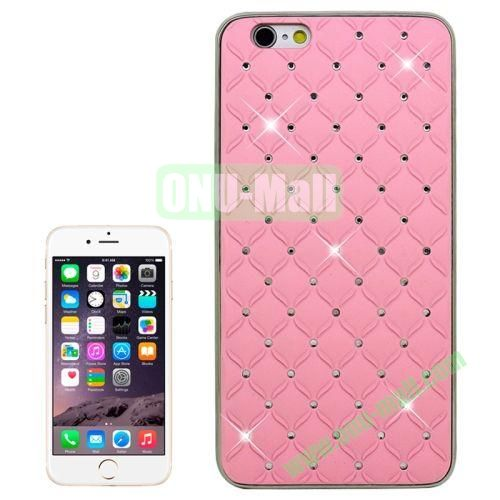 Bling Diamond Stars Plating Skinning Plastic Case for iPhone 6 Plus 5.5 (Pink)