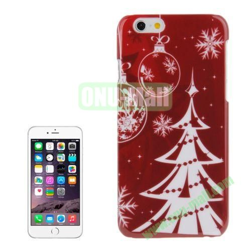 Christmas Series Best Gifts Plastic Hard Case for iPhone 6 (White Christmas Tree)