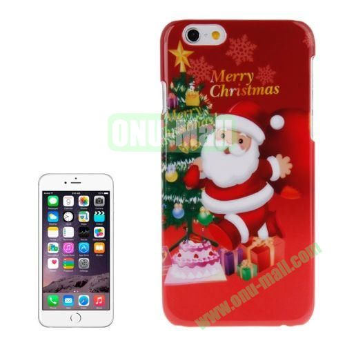 Christmas Series Best Gifts Plastic Hard Case for iPhone 6 (Cute Santa Claus)