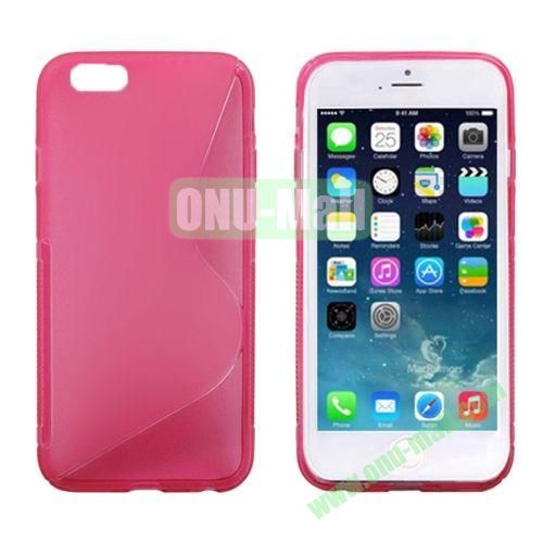 S Line Frosted Anti-skid TPU Protective Case for iPhone 6 Plus (Rose)