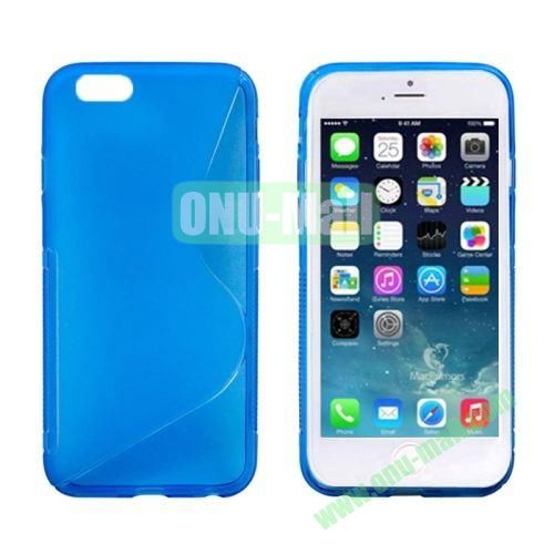 S Line Frosted Anti-skid TPU Protective Case for iPhone 6 4.7 inch (Blue)