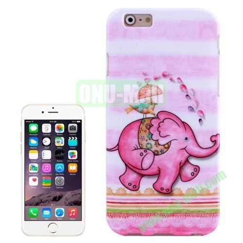 Unique Design 3D Printing TPU Case for iPhone 6 (Cute Elephant)