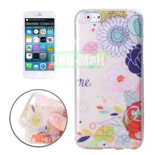 Newest Design Printed Images Transparent TPU Case for iPhone 6 (Sunflower)