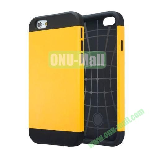 Slim Armor TPU + PC Hybrid Case Cover for iPhone 6 4.7 inch (Yellow)