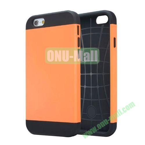 Slim Armor TPU + PC Hybrid Case Cover for iPhone 6 Plus (Orange)