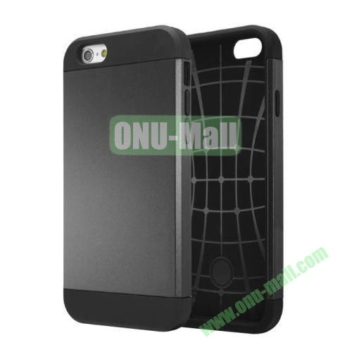 Slim Armor TPU + PC Hybrid Case Cover for iPhone 6 4.7 inch (Black)