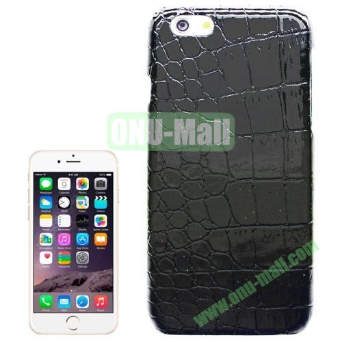 Crocodile Texture Leather Skin Plastic Case for iPhone 6 (Black)